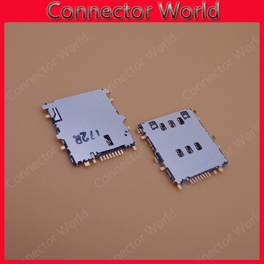 2pcs/lot For Samsung T555 SM-T555 Galaxy Tab A 9.7 3G/LTE Original SIM Reader SIM Card Socket SIM Card Slot Connector