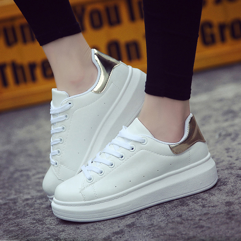 2020 Women Sneakers White Casual Shoes Woman Fashion White Shoes Sneaker Women White Shoes Platform Shoes Zapatillas Mujer