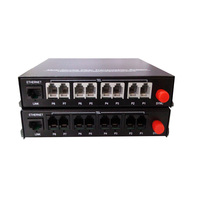 High Quality 8 Channel PCM Voice Telephone Fiber Optical Media Converter With Ethernet FC Single Mode