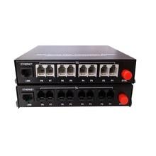 Высокое качество 8 канальный PCM голосовой Телефон волокно оптический Media Converter с Ethernet FC одиночный режим 20 км