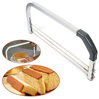 Adjustable Stainless steel Large 3 Blade Cake Cutter Interlayer Cake Slicer Leveler Household Cake Tools Baking and Pastry Tools