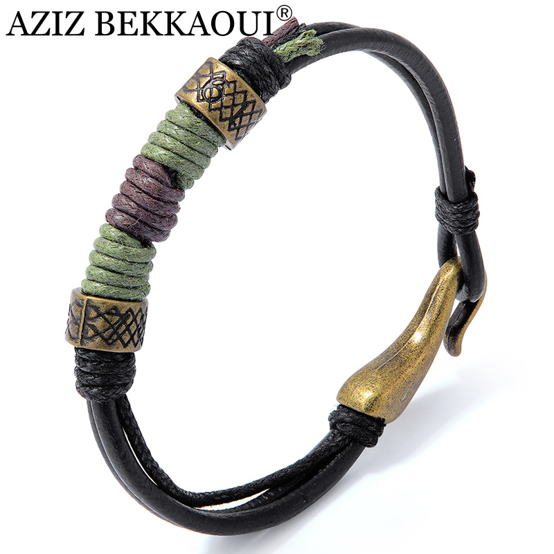 AZIZ BEKKAOUI Leather...