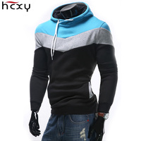 New Fashion Autumn Winter Men S Hoodies Patchwork Colors Sports Casual Men S Sweatshirts Hooded Collar