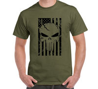 LEQEMAO Amerikaanse Sniper Chris Kyle Mannen T-shirt Punisher Schedel Navy Seal Team Legend Gedrukt Fashion Top Tee Casual Tshirt S-3XL