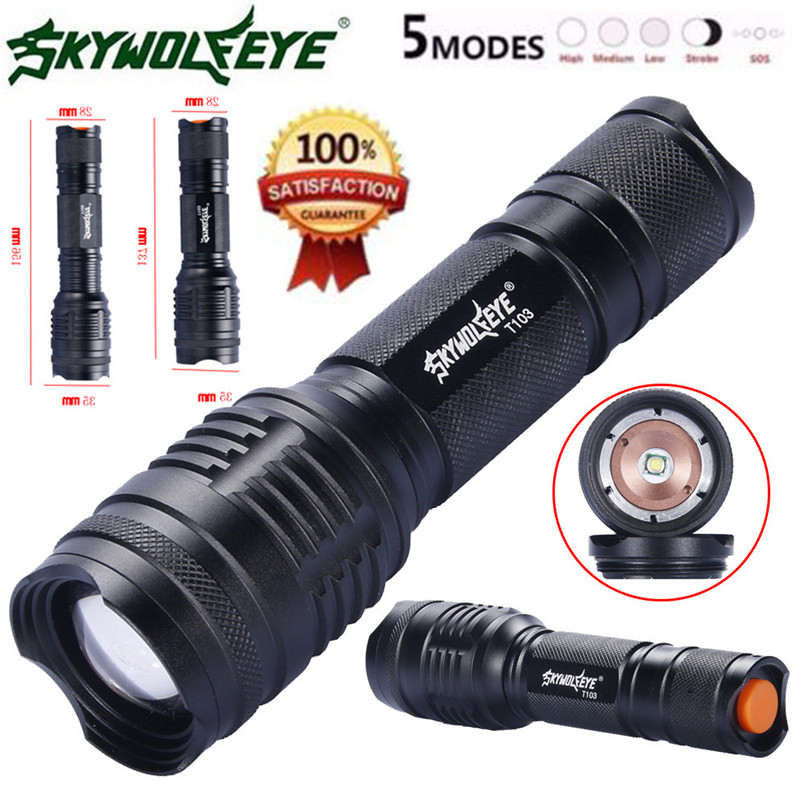 Earnest Newest Xml T6 Led Zoomable 5 Modes Police Tactical Flashlight 26650/18650/aaa Torch Wholesales 2017 Nom19 And To Have A Long Life. Lights & Lighting