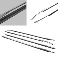 Car Door Belts Weather Strip Weather strip Moulding Trims for Toyota Camry 2012 2013 2014 Chrome Outside Windows 4PCS/SET
