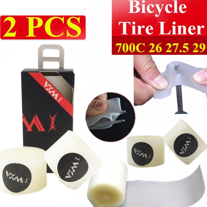 VXM 2pcs MTB Road Bike Tires Liners Puncture Proof 26 27 5 29 700C Mountain Tyre