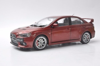 1:18 Diecast Model for Mitsubishi Lancer EVO X 10 BBS Wheels Red Alloy Toy Car Miniature Collection Gifts Evolution