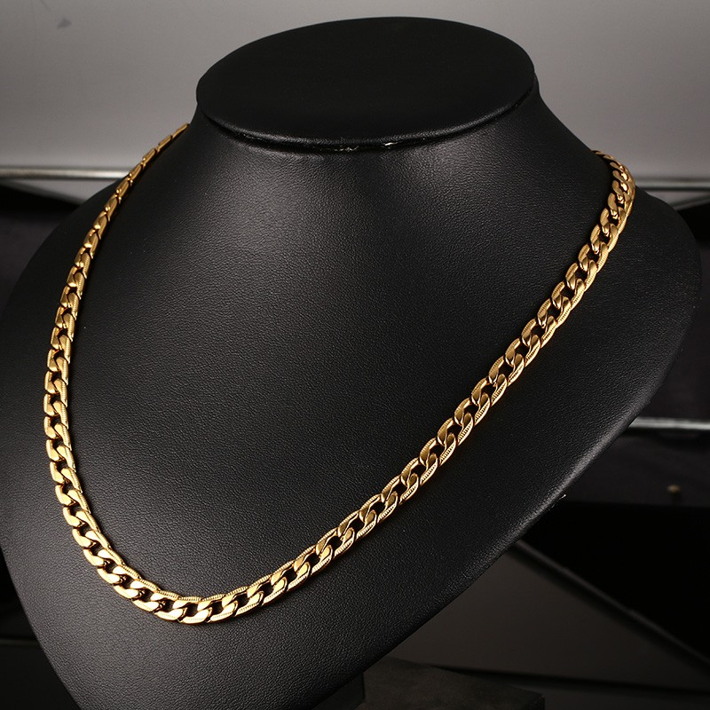 """Stainless Steel Elegant 24/"""" Round Box Chain Necklace 5mm"""