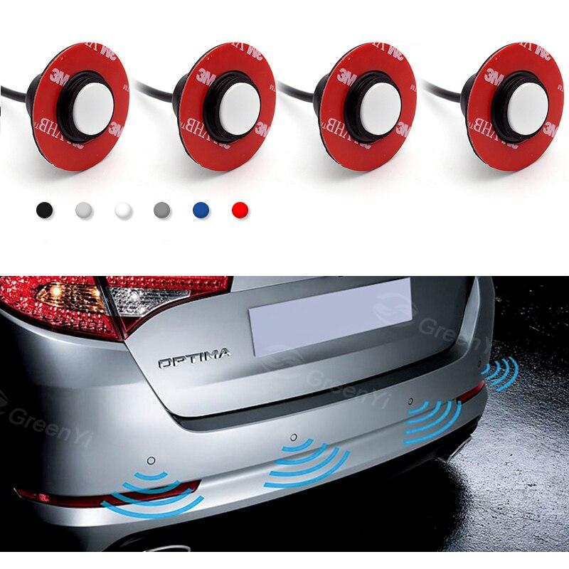 Image 2 - New 13MM Original Flat Adjustable Sensors Car Parking Sensor Parktronic Reverse Backup Radar Detector with Buzzer Alert 6 Colors-in Parking Sensors from Automobiles & Motorcycles