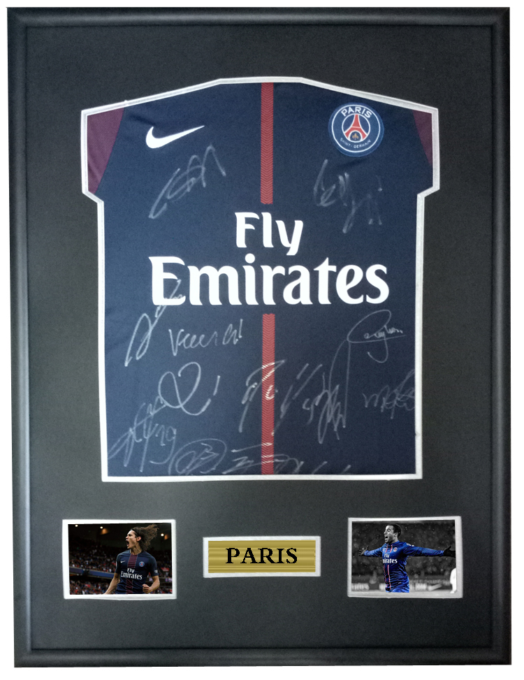 Detail Feedback Questions about Cavani Neymar signed autographed soccer shirt  jersey come with Sa coa framed Paris Saint Germain 17 18 season on ... 79a28a375
