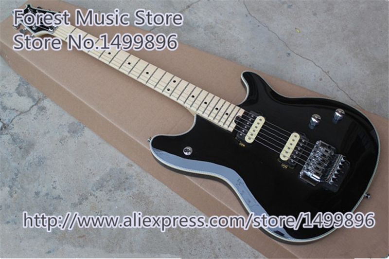 Hot Selling Glossy Black Finish Wolfgang EVH Guitars Electric With Chrome Floyd Rose Tremolo In Stock hot selling cheap price sg standard electric guitar bigpsy tremolo stain finish chinese guitars in stock for sale