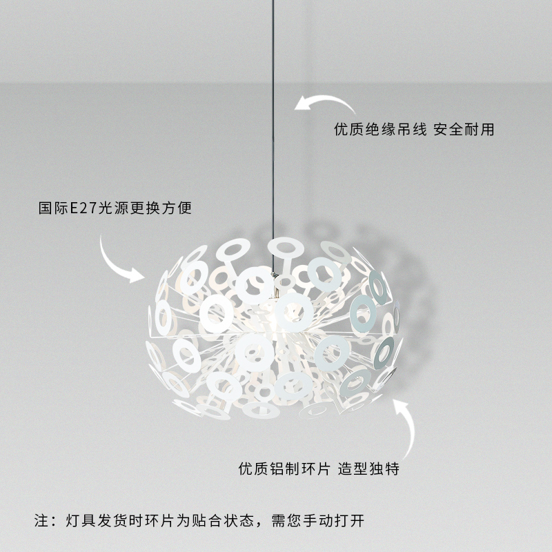 Modern LED chandelier living room suspended lamps Novelty deco lighting fixtures bedroom hanging lights Nordic Round luminaires