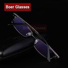 1d0e6bf5d الإطار البصرية قصر النظر وصفة طبية عدسة الرجال خفيفة للغاية التيتانيوم كامل  حافة الكلاسيكية نظارات نظارات شحن مجاني 8850