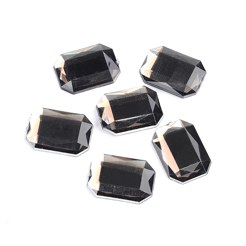 Beautiful Pandahall Cabochon, Acrylic Rhinestone Beads, Faceted, Rectangle, Peru, About 13mm Wide, 18mm Long, 3mm Thick To Win A High Admiration