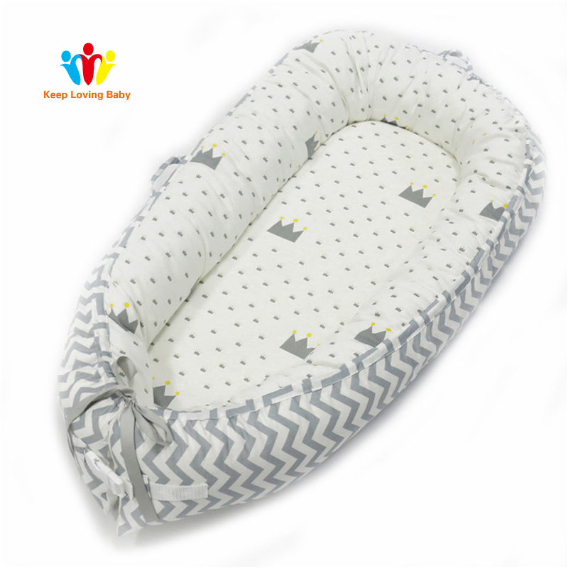 Newborn Baby Crib Bumper Protector Infant Bed Comfortable Protect Sleeping Basket Baby Boy Girl Bedding Cradle Co-Sleeping Cribs Детская кроватка