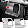 LHD For AUDI A4 B8 A5 8T S5 2008 2009 2010-2015 Interior Car Styling Stainless Console Inigation Key Hole Covers Accessories