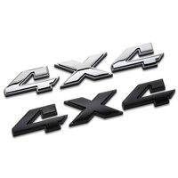 Car Styling 3D Aluminum Metal Chrome 4x4 Logo Displacement Emblem Badge Truck Auto Motor Sticker Decal
