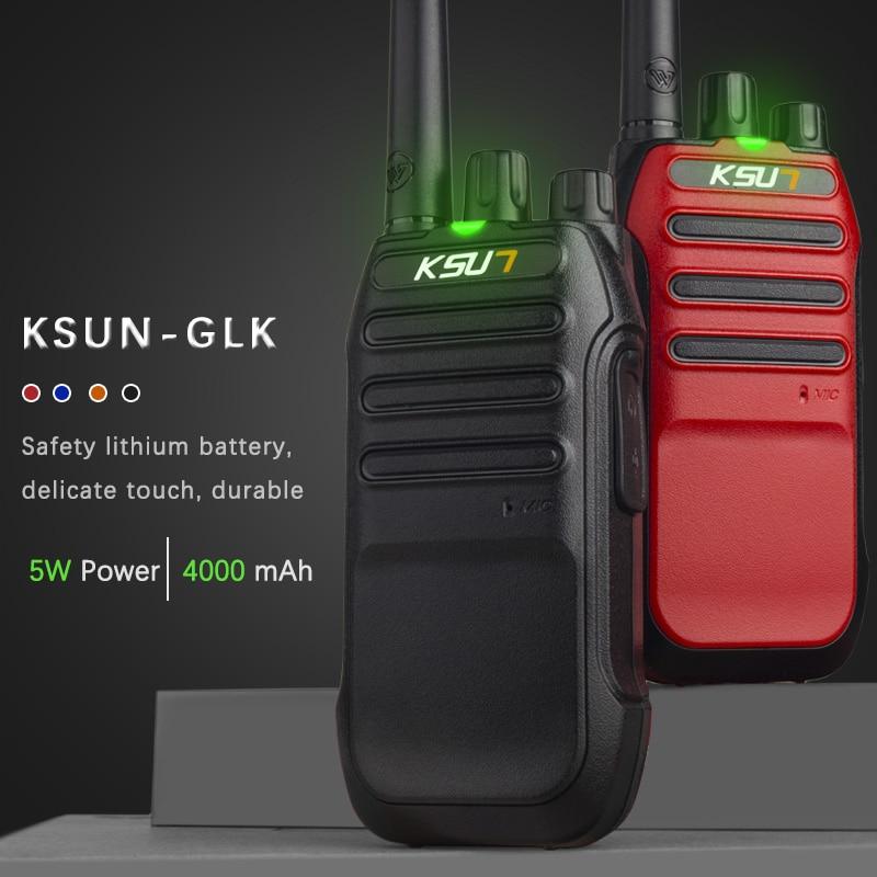 KSUN-GLK ručni walkie-talkie 5W visoke snage UHF ručni dvosmjerni - Voki-toki - Foto 2