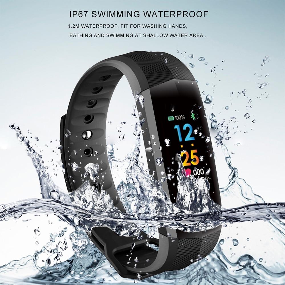Fitness Bracelet Waterproof Heart Rate Monitor Smart Bracelet Sport Watches Activity Tracker Pedometer Watch Woman Bracelet