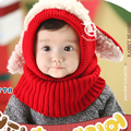 Малыш дети девочка мальчик зимние шапки капюшон капюшон Kintted шерстяной шарфы шапочки теплую шапку