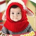 Criança crianças inverno chapéus touca capuz de lã Kintted cachecóis bebê bonés de Cap quente