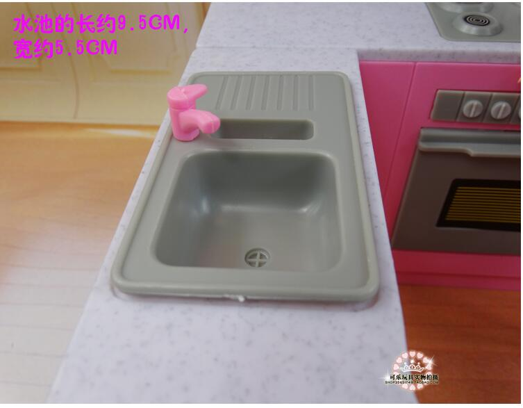 Image 3 - Newest For Barbie Furniture Miniature Combo Kitchen play set Doll dream House diy toytoy ringkitchen ledkitchen sinks taps direct -