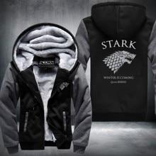 New Game of Thrones Winter is Coming Stark Sweatshirts Hoodies Velvet Coat USA Size