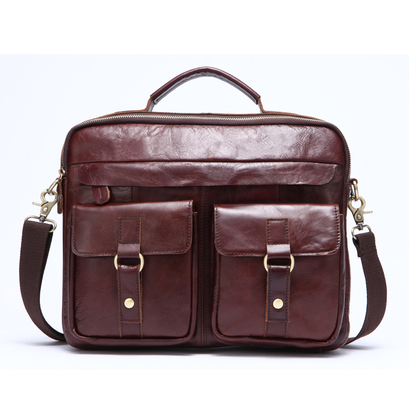 Laptop Bag Genuine Leather Men Bag Business Briefcase Messenger Handbags Men Crossbody Bags Men's Travel Shoulder Tote Bags ograff men handbags briefcase laptop tote bag genuine leather bag men messenger bags business leather shoulder crossbody bag men