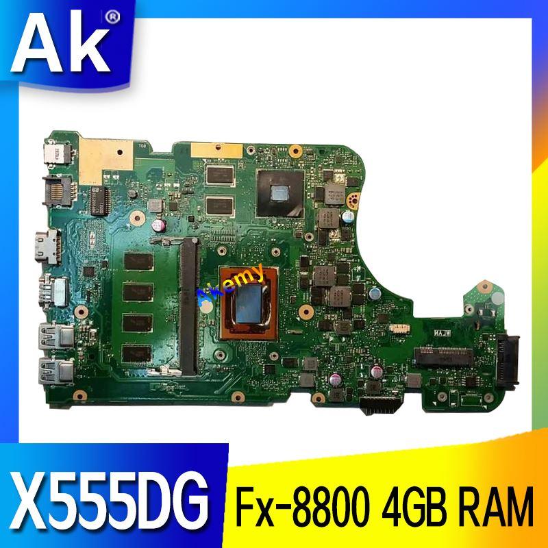 AK X555DG X555YI ノートパソコンのマザーボード X555Y X555YI X555D X555DG マザーボード Fx 8800 4 1GB の RAM  グループ上の パソコン & オフィス からの マザーボード の中 1
