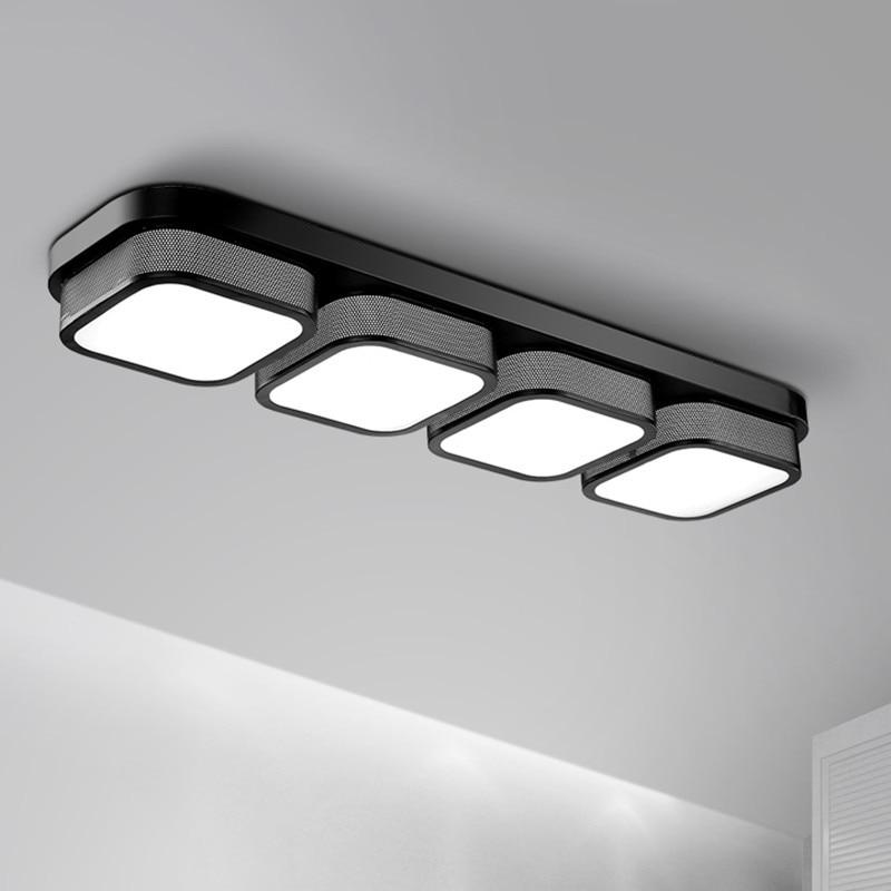 Modern LED Ceiling Lights For Aisle Corridor Office Black White Iron Body Bedroom Ceiling Lamp plafonnier