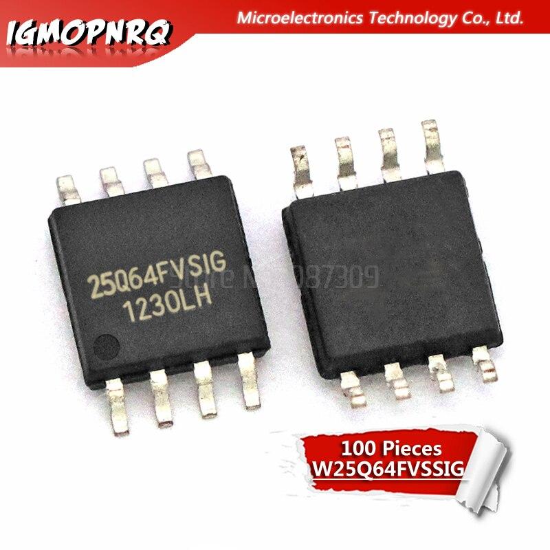 Free shipping 100pcs lot 25Q64 25Q64FVSIG W25Q64FVSIG W25Q64FVSSIG offen use laptop p 100 new original