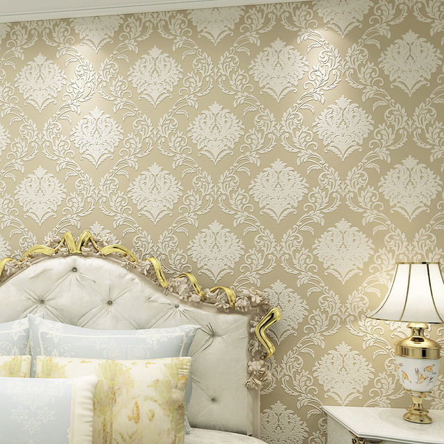 Beibehang Simple European 3D Stereo Relief Wallpaper Ventilation Bedroom Living Room TV Wall Decorative 3d