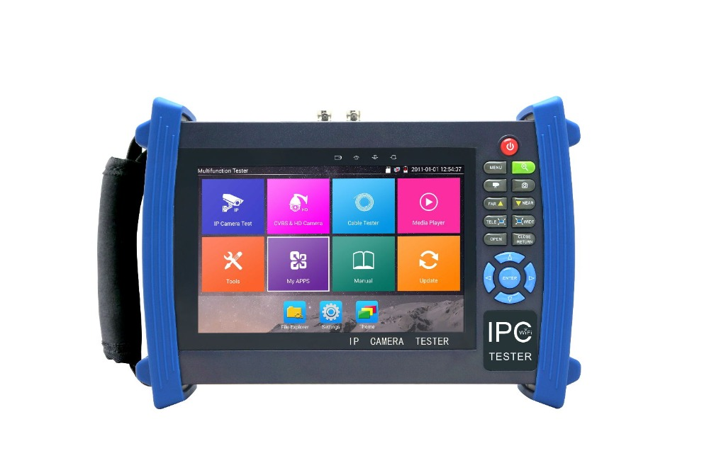 7 Android system CCTV Tester with WIFI,Browser,POE,cable test etc for IPC8600MOVTADHS Plus image