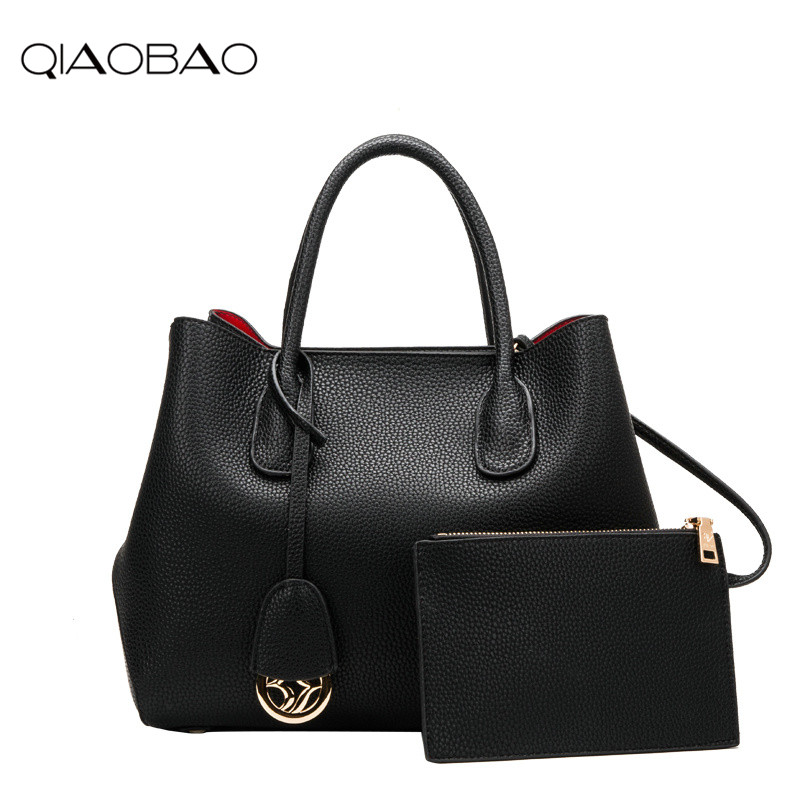 цена на QIAOBAO Famous Designer Brand Bags Women Cowhide Leather Handbags Luxury Ladies Hand Bags Purse Fashion Shoulder Bags Bolsa Sac