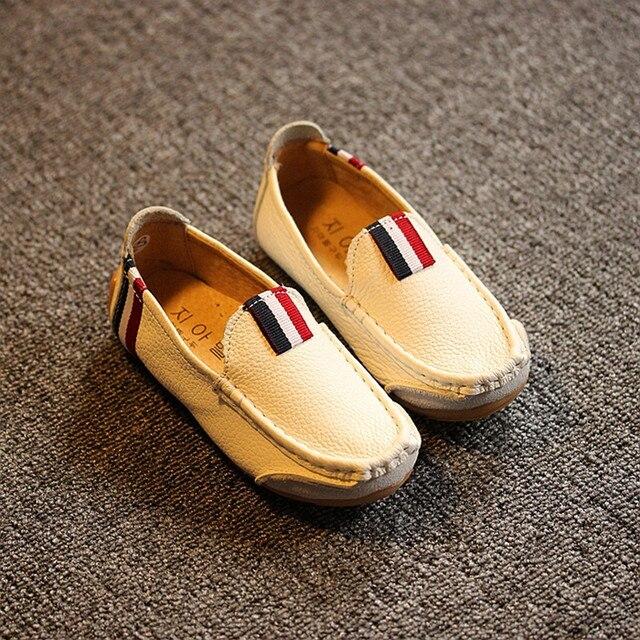 Новая коллекция весна и лето 2016 мальчиков doug обувь мягкой подошве кожаные корейский стиль одиночные детей кожаные ботинки