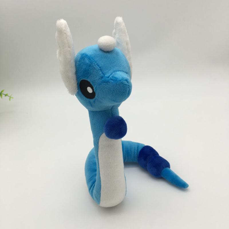 25cm Cute Pocket Monster Igrače Kawaii Blue Dragonair Otroška Darilna Plush Toy risanka Character Plush Doll Darilo za otroke / Baby  t