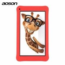 Aoson 7 дюймов Детские планшеты pc 1 ГБ 16 ГБ 4 ядра Android 6.0 Планшеты 1024*600 IPS HD Tab предварительно -установить Дети Программное обеспечение touch Стилусы ручка