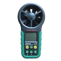 MASTECH MS6252B Digital Anemometer Wind Speed Meter Air Flow Tester Meter Volume Ambient Temperature Humidity With USB Interface