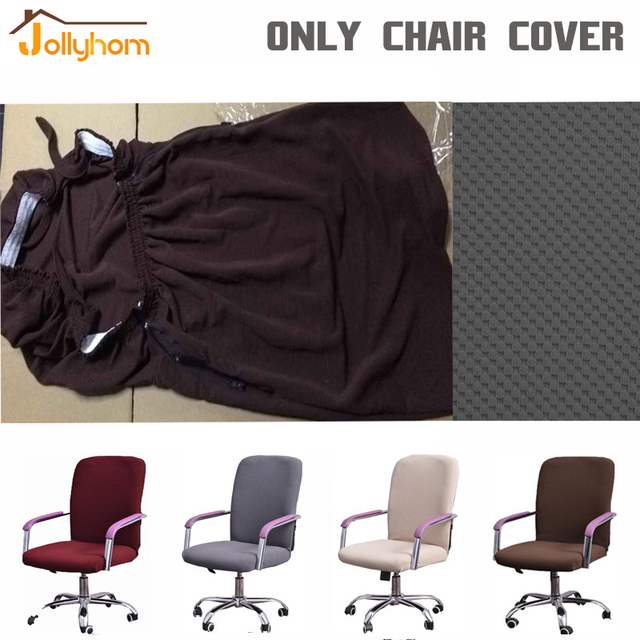 5 Couleurs Solide Spandex Elastique Fauteuil De Bureau Couverture 4 Taille Polyester Chaise Dordinateur