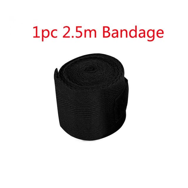 1pc 2.5m Cotton Bandage Boxing Wrist Bandage Hand Wrap Combat  Protect Boxing Kickboxing Muay Thai Handwraps Training Gloves