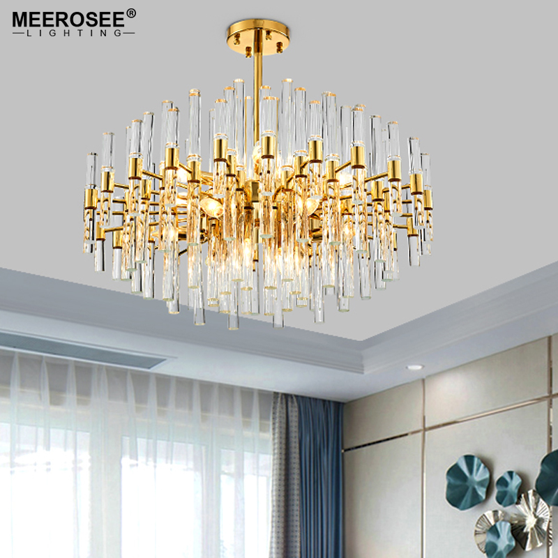 Luxury Crystal Chandelier Lighting Golden Cristal Lustres Light Fixture Chandelier Crystal for Hotel Project MD86286