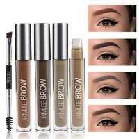 Eye Brow Gel Wasserdichte Semi-permanent Natürliche Eye Brow Gel Lang Anhaltende Schwarz Braun Getönt Augenbraue Make-Up Comestics
