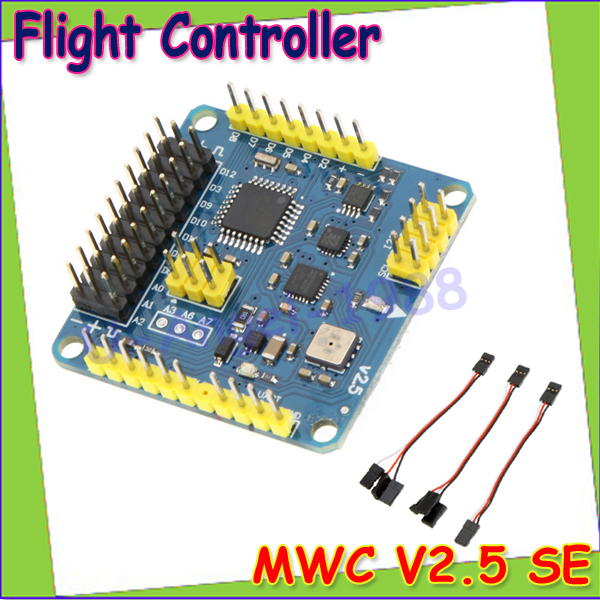 Wholesale 1pcs MWC MultiWii Standard SE V2.5 Flight Controller for Multicopter Quad-X Gimbal Dropship crius mwc multiwii se flight controller bluetooth module parameter debug adapter