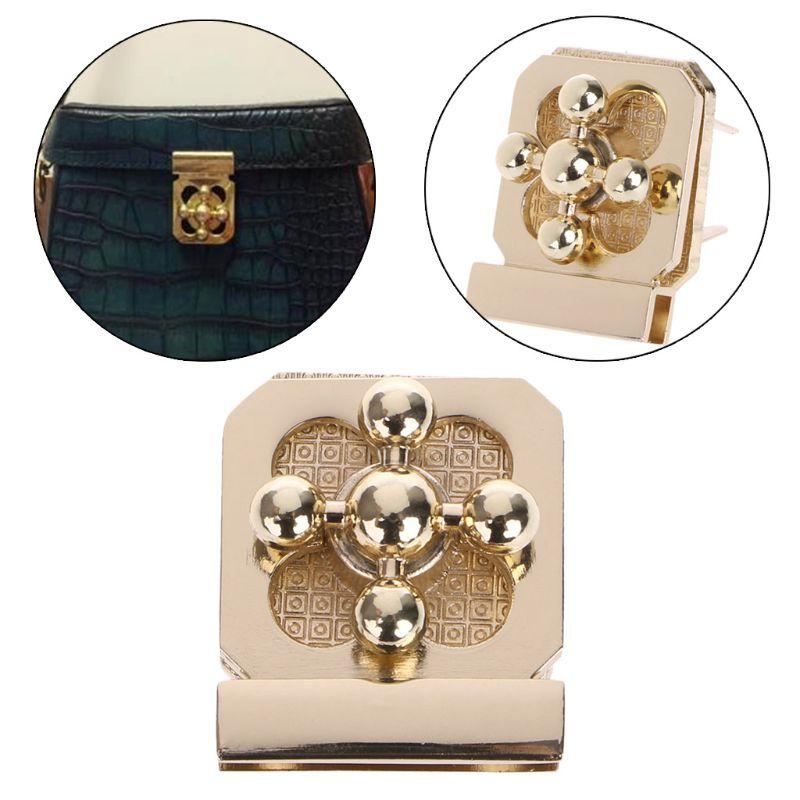 Bag Parts & Accessories Thinkthendo Fashion Hot Metal Clasp Turn Lock Twist Lock For Diy Handbag Bag Purse Hardware Closure Bag Parts Accessories