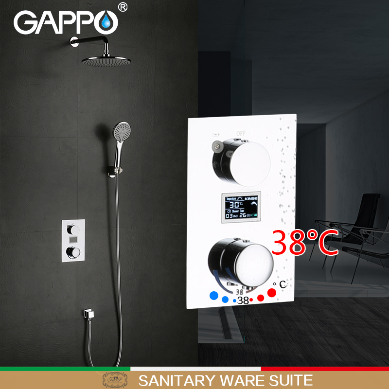 GAPPO shower faucet bathtub faucet mixer tap rainfall bath tub mixers thermostatic Wall Mount shower faucet gappo bathtub faucet thermostatic shower mixers in wall faucets shower faucet thermostatic thermostat taps
