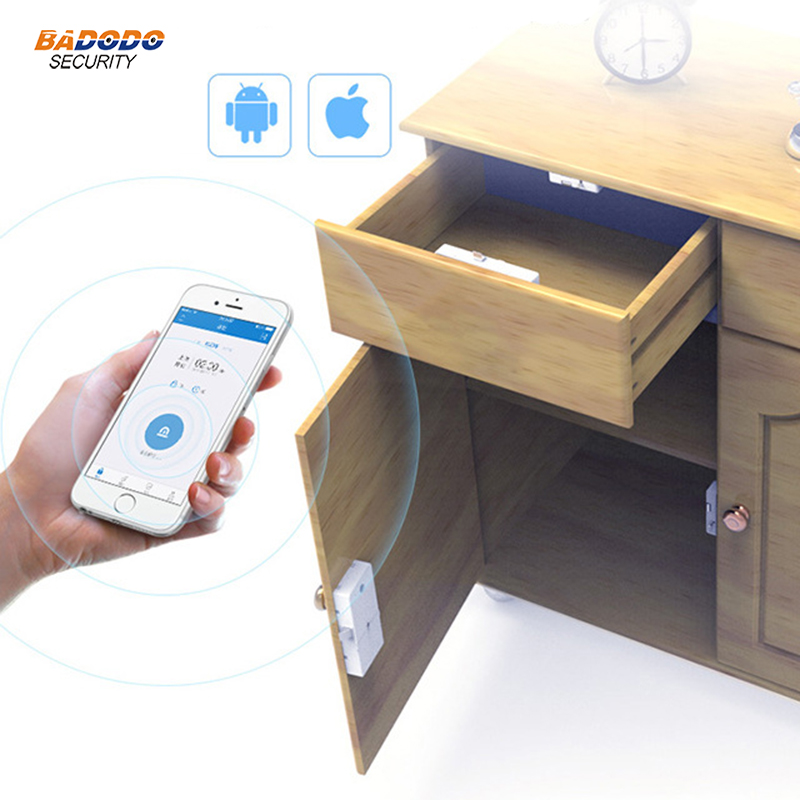 Wireless Bluetooth Keyless Smart cabinet Lock Invisible electric lock IOS Android APP control for cabinet drawer
