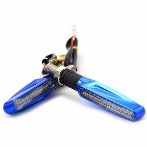 Image 4 - Turn Signal Light Flexible Moto LED lights Universal flashers motocross light for yamaha YZF R1 R6 R125 FOR Honda GROM MSX125