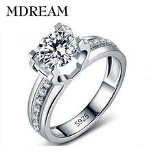 Eleple Hollow White Gold Color AAA Zircon Ring Wedding For Female Fancy Beautiful Rings Jewelry Gift Factory Price LSR066