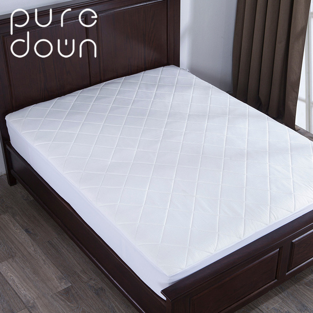 puredown home memory foam mattress pad protector bed topper diamond quilting four size white mattress covers